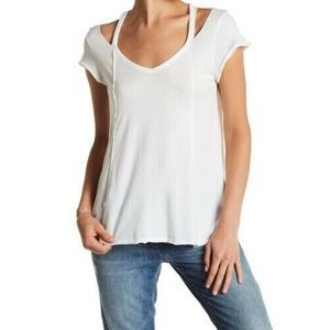 Melrose and Market top white ripped tee shirt